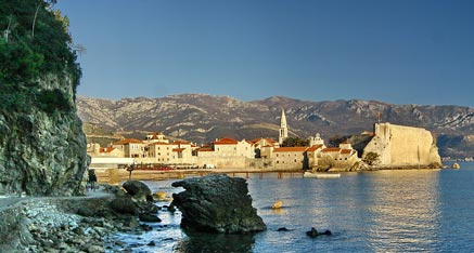 Beautiful Coast of Montenegro Budva Old Town